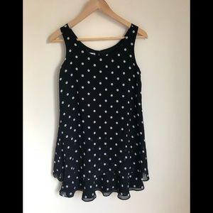 Jones New York Black and white polkadot dress